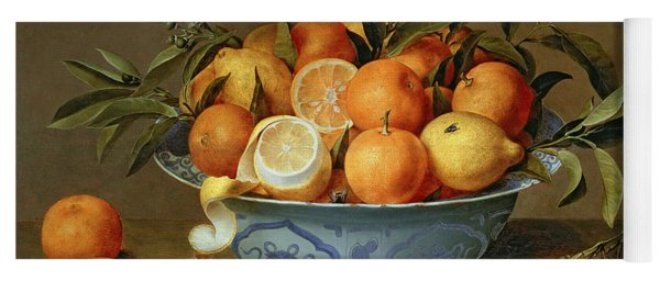 Still Life With Oranges And Lemons In A Wan-li Porcelain Dish  Yoga Mat