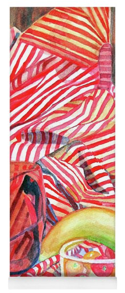Still Life With Stripes Yoga Mat