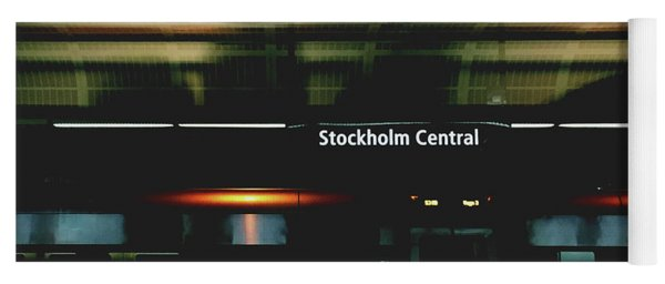 Stockholm Central- Photograph By Linda Woods Yoga Mat