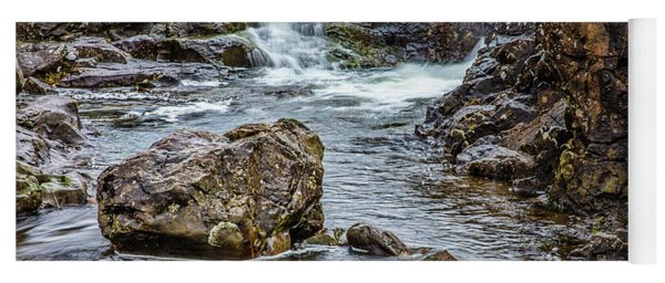 Stone And Waterfall #h5 Yoga Mat