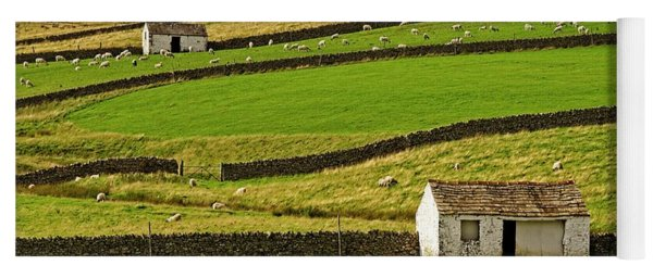 Stone Barns In The Teesdale Landscape Yoga Mat