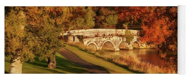 Yoga Mat featuring the photograph Stone Bridge On The Rye Water - Kildare, Ireland by Barry O Carroll