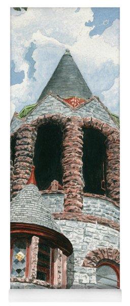 Stone Church Bell Tower Yoga Mat