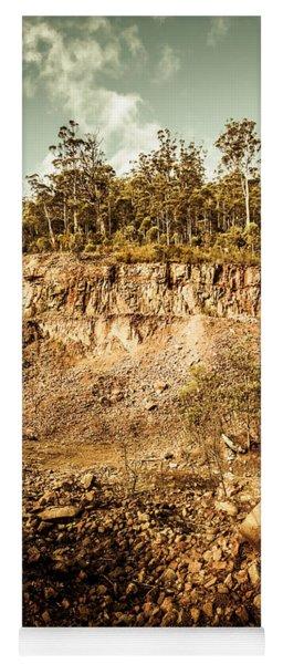 Stone Excavation Pit Yoga Mat