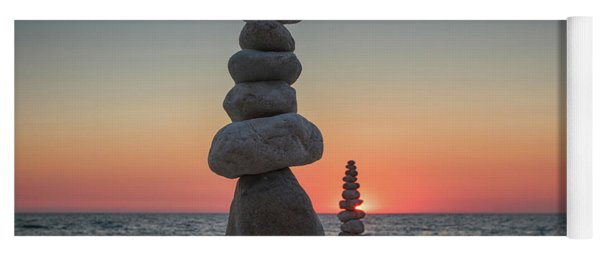 Stone Tower By The Beach Yoga Mat