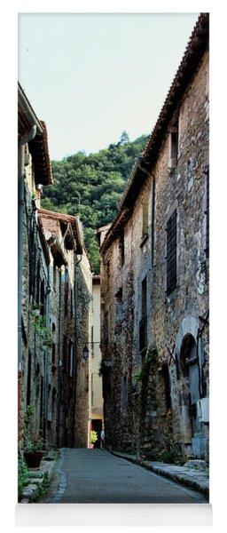 Stone Village Narrow Road France  Yoga Mat