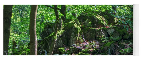 Stones In A Forest In Vogelsberg Yoga Mat
