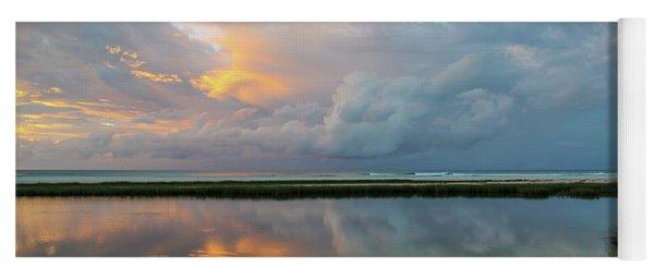 Storm Cloud Reflections At Sunset Yoga Mat