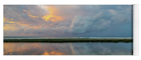 Storm Cloud Reflections At Sunset Yoga Mat