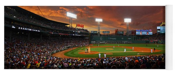 Storm Clouds Over Fenway Park Yoga Mat
