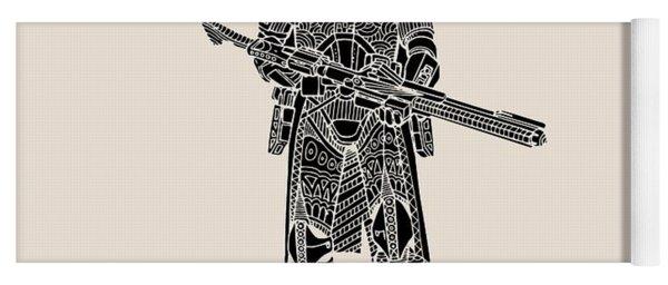 Stormtrooper Samurai - Star Wars Art - Black Yoga Mat