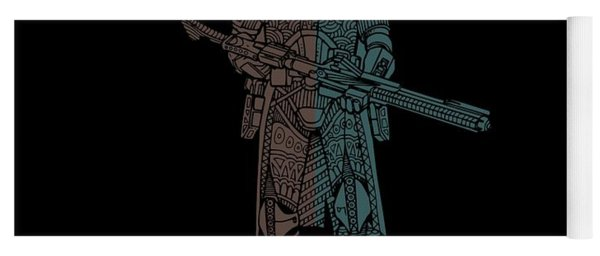 Stormtrooper Samurai - Star Wars Art - Minimal Yoga Mat