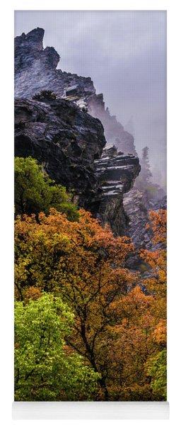 Stormy American Fork Canyon - Wasatch - Utah Yoga Mat