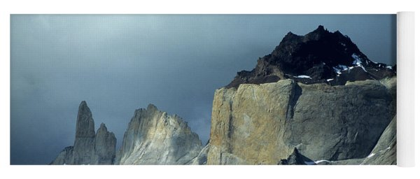 Stormy Light Over Los Cuernos Del Paine  Yoga Mat