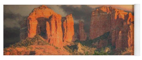 Stormy Sedona Sunset Yoga Mat
