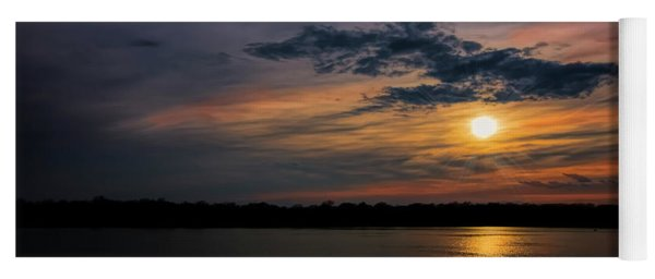 Stormy Sunset Over Belleville Lake Yoga Mat