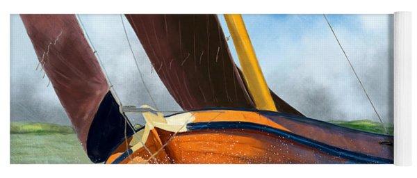 Stormy Weather Skutsje Sailing Ship Yoga Mat