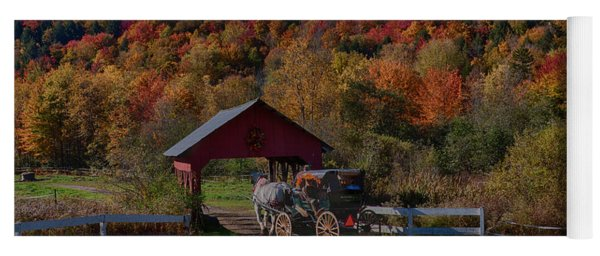 Stowe Vermont Carriage Ride Yoga Mat
