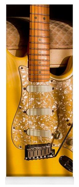 Stratocaster Plus In Graffiti Yellow Yoga Mat