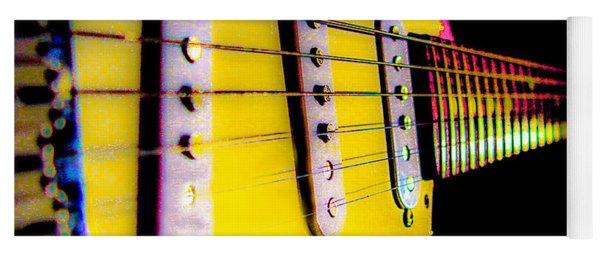 Stratocaster Pop Art Pink Fire Neck Series Yoga Mat
