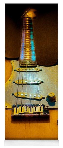 Stratocaster Tobacco Burst Glow Neck Series  Yoga Mat