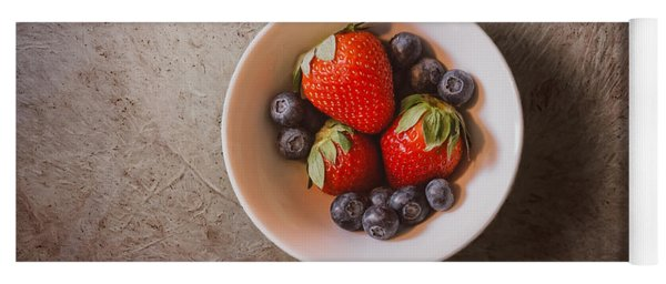 Strawberries And Blueberries Yoga Mat