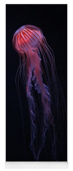 Yoga Mat featuring the photograph Strawberry Pink Jellyfish - Extra Tall by Debi Dalio
