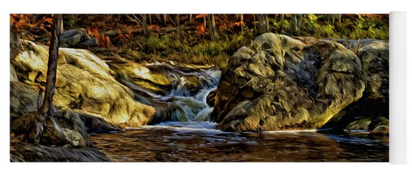 Stream In Autumn 57 In Oil Yoga Mat