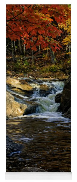 Stream In Autumn No.17 Yoga Mat