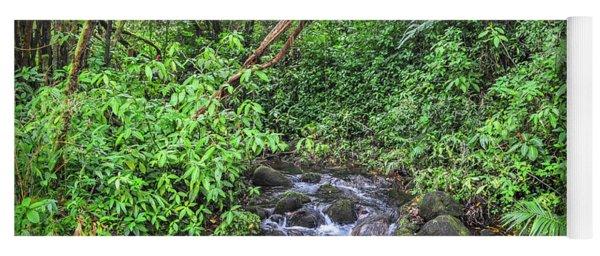 Stream In The Rainforest Yoga Mat