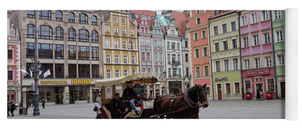 Yoga Mat featuring the photograph Wroclaw Rynek by Dubi Roman