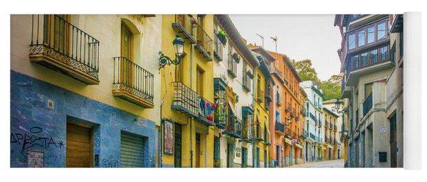 Street Scene Granada Yoga Mat