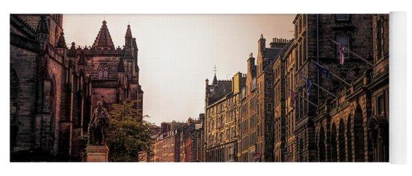 Streets Of Edinburgh Scotland  Yoga Mat