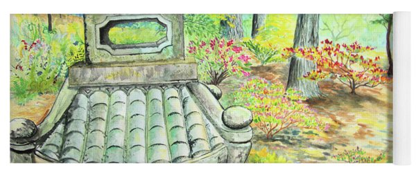 Strolling Through The Japanese Garden Yoga Mat