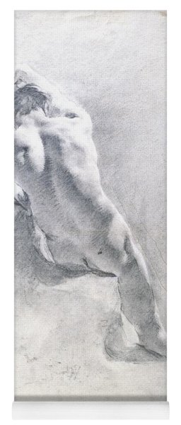 Study Of A Male Nude Yoga Mat