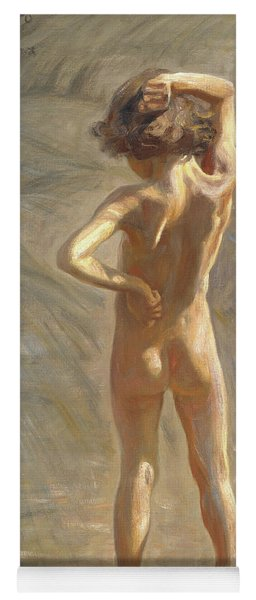 Study Of A Nude Boy Yoga Mat