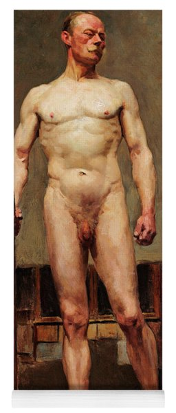 Study Of Male Nude Yoga Mat