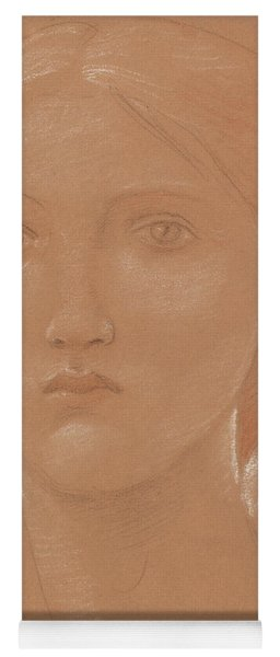 Study Of The Head Of Margaret Burne Jones Yoga Mat