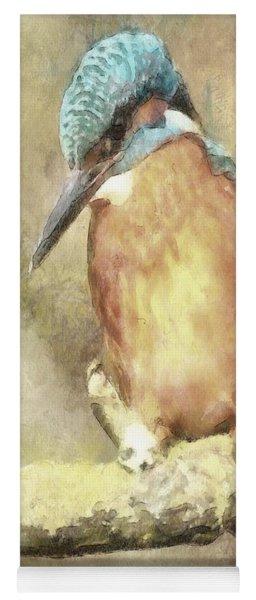 Stunning Kingfisher In Watercolor Yoga Mat