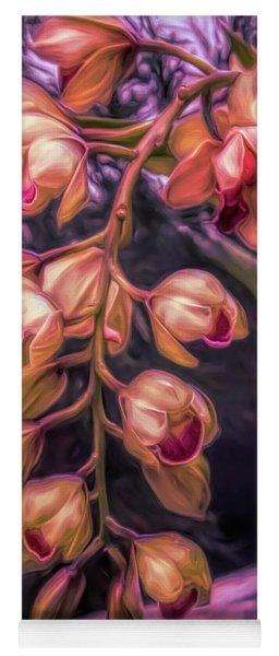 Stylized Orchids Yoga Mat