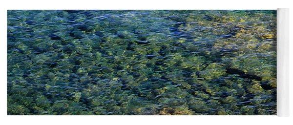 Submerged Rocks At Lake Superior Yoga Mat