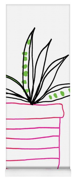 Succulent In A Pink Pot- Art By Linda Woods Yoga Mat