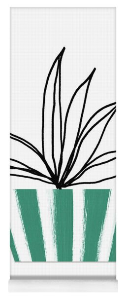 Succulent In Green Pot 3- Art By Linda Woods Yoga Mat