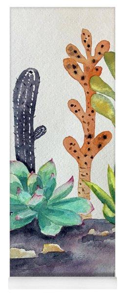 Succulents Desert Yoga Mat