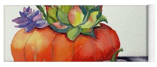 Succulents In Pumpkin Yoga Mat