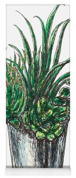 Succulents Yoga Mat
