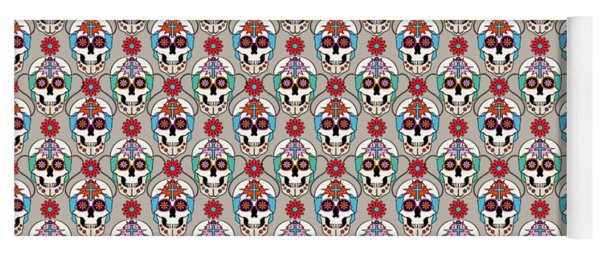 Sugar Skulls Pattern Yoga Mat