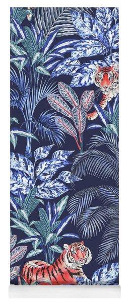 Sumatran Tiger, Blue Yoga Mat