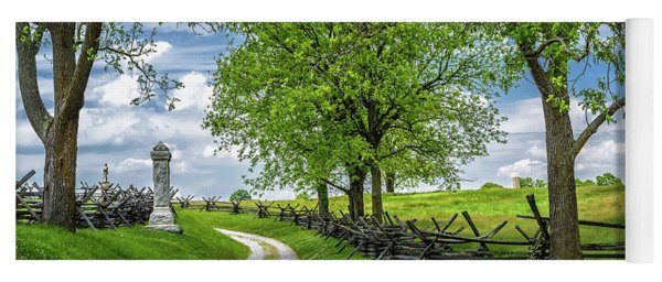 Yoga Mat featuring the photograph Summer At Antietam National Battlefield by Lori Coleman
