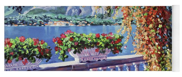 Summer At Lake Como Yoga Mat